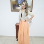 Look do Dia: Saia Longa Laranja + Cardigan