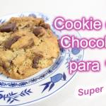 Cookie de Chocolate para 1 | Receita Super Fácil