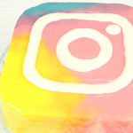 Sobremesa com Cobertura de Vidro do Instagram
