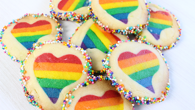 post biscoito arco íris