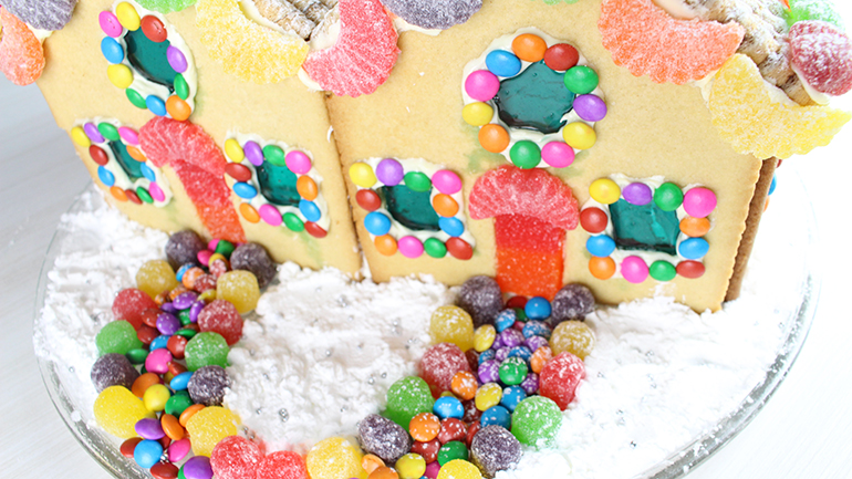 casa de biscoito post frente