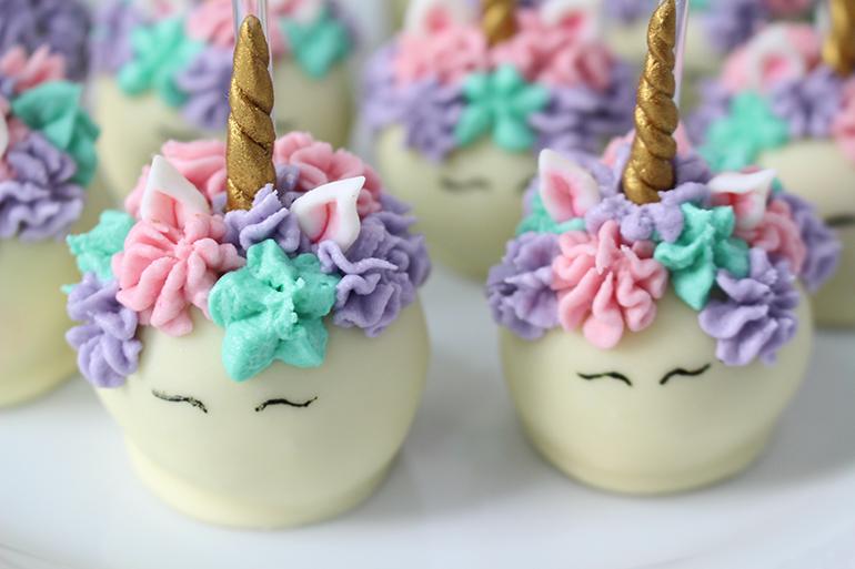 Cake pops de Unicórnio | Unicorn Cake Pops