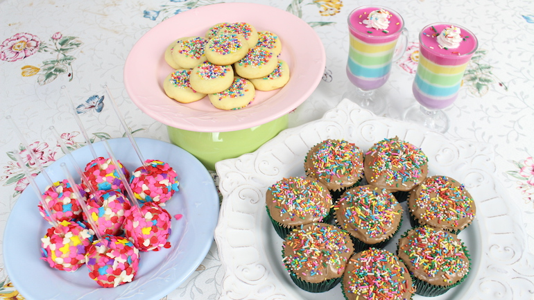 receitas com leite condensado - arco-íris