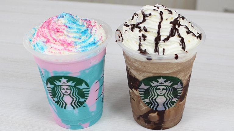 Starbucks Frappuccino - Unicórnio e Mocha