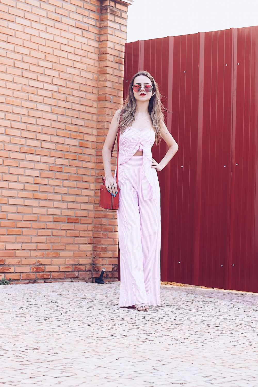 pantalona listrada rosa millennial