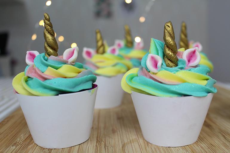 Cupcakes de unicórnio