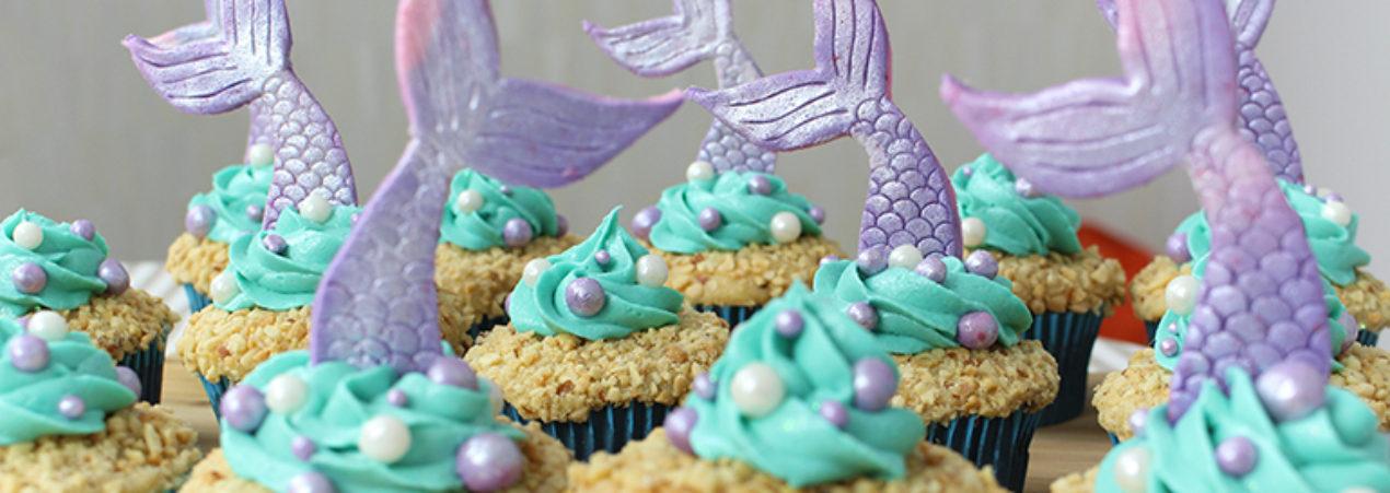 Como fazer Cupcakes de Sereia