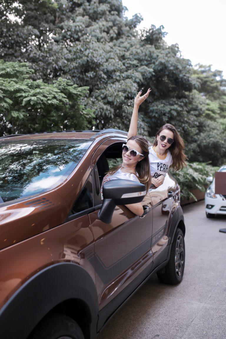 Carol e Thaís no Câmbio Ford EcoSport Storm