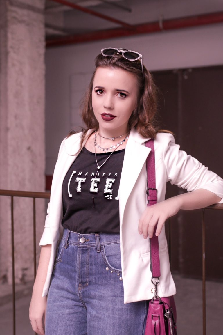Look Camiseta + Blazer