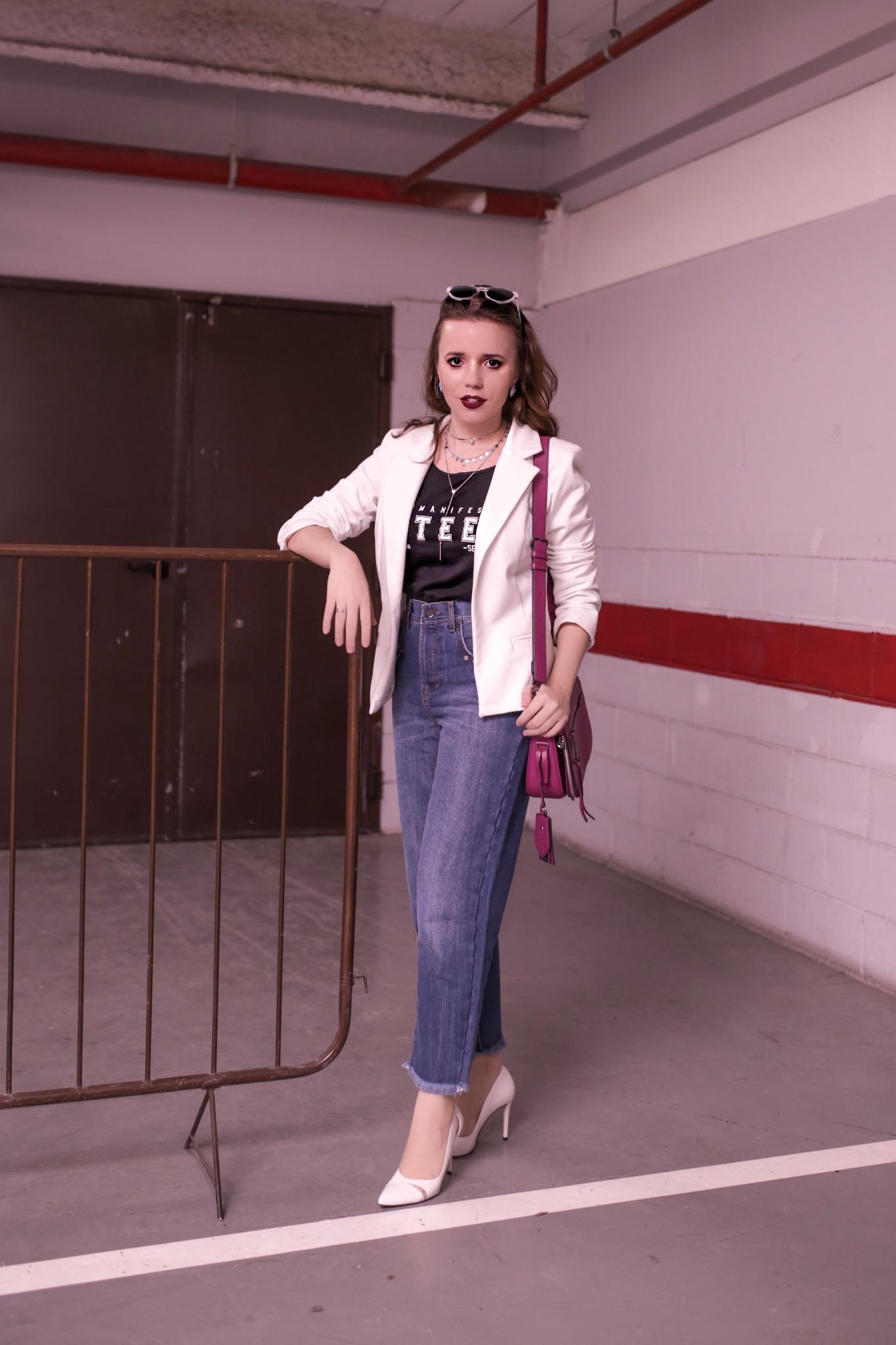 Look Camiseta + Blazer